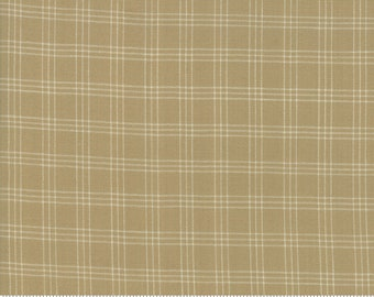 Northport Silky Wovens Tan Plaid by Minick & Simpson for Moda Fabrics  (12215 98) - Plaid Fabric