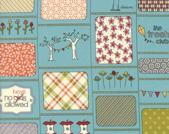 Treehouse Club (5630 16) Rules Splash by Sweetwater - 1/2 yard piece