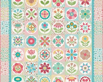 Granny's Garden Quilt Kit by Lori Holt featuring Granny Chic fabrics (Bee in My Bonnet) For Riley Blake IN STOCK!!