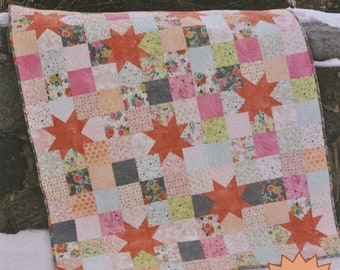 Starry Night Quilt Pattern from Sweet Jane's Quilting & Design -  Precut Friendly - Lap and Baby size quilt instructions included