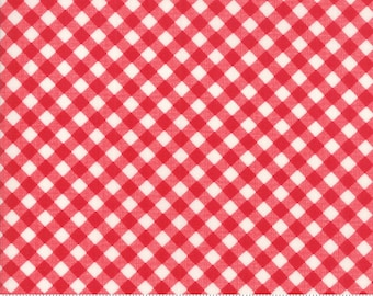Little Snippets Red Little Bias Gingham by Bonnie & Camille for Moda Fabrics (55186 11)