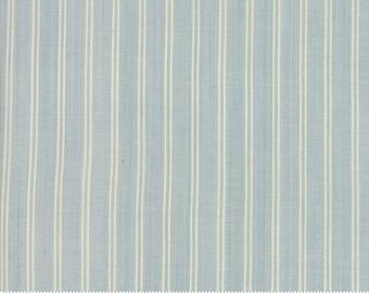 Northport Silky Wovens Light Blue Stripe by Minick & Simpson for Moda Fabrics  (12215 13) - Patriotic Fabric - Stripe Fabric
