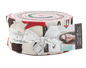 Bramble Jelly Roll by Gingiber for Moda Fabrics (48280JR) - Animal Fabric