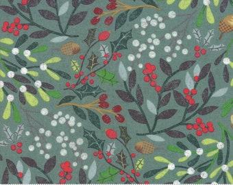 Kringle Claus - Festival - Blue Spruce - (30590 18) - BasicGrey Kringle Claus for Moda Fabrics - Cotton Quilting Fabric - Kringle Klaus