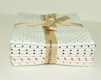 Riley Blake Swiss Dots (C660) bundle 8 Fat Quarters