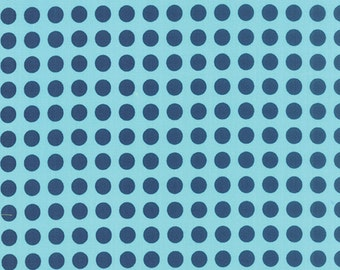 SALE!!  Gooseberry (5013 26) Polka Dots Sky Navy by Lella Boutique - cut options available