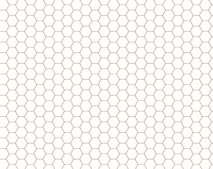 Bee Backgrounds By Lori Holt Honeycomb Gray (C6387-Gray)
