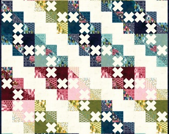 "Stolen Kisses Quilt Kit featuring Nova by BasicGrey for Moda Fabrics (KIT30580)  - 61"" x 73"" quilt - BasicGrey Quilt Kit"