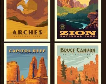 """National Parks Utah Pillow Panel - 36"""" x 43 1/2"""" - Riley Blake Designs (PP8935-UTAH) - National Park Fabric"""