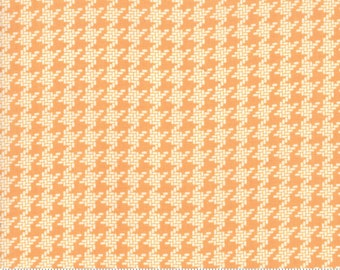 Fig Tree All Hallows Eve Pumpkin Houndstooth- (20355 11)  by Fig Tree for Moda - Halloween Fabric - Cotton Quilting Fabric