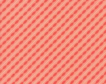 Lulu Lane (29026 14) Peach Petal Stripe by Corey Yoder