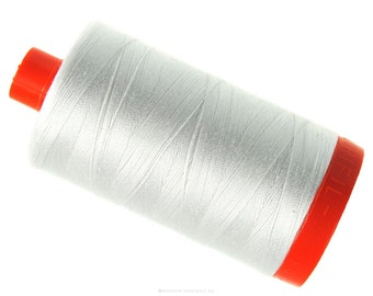 MK50 2021 - Natural White - Aurifil Cotton Thread Large Spool (1422 yds)