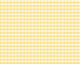 Riley Blake Designs, Medium Gingham in Yellow (C450 50) - Yellow Gingham Fabric