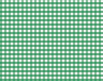 Green Woven 1/4 inch Gingham (WC450 GREEN) for Riley Blake Designs - Green Woven Gingham