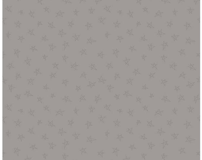 Riley Blake Designs, Tone-on-Tone Stars Gray (C219-Gray)