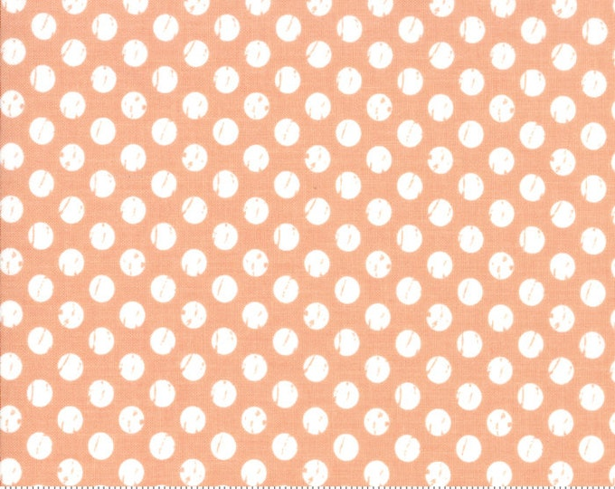 Lollipop Garden Whitewashed Dots - Tangerine - Lollipop Garden by Lella Boutique - (5085 18)