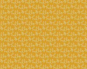 Golden Days Mustard Hello by Fancy Pants Design for Riley Blake Designs (C8602-MUSTARD) - Cut Options Available