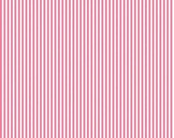 Riley Blake Designs, 1/8 Inch Stripe in HOTPINK (C495)