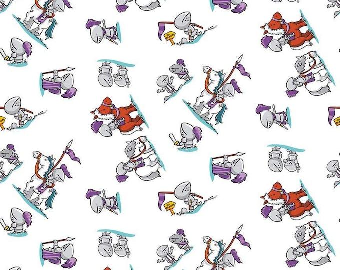Dragons Knights White (C7663-WHITE) by Ben Byrd for Riley Blake
