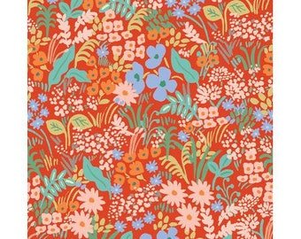 Meadow Red Meadow by Rifle Paper Co. for Cotton and Steel Fabrics (RP204-RE3) - Cut Options Available