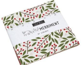 Merriment by Gingiber Charm Pack (48270PP) - Moda Precut Fabric - Christmas Fabric
