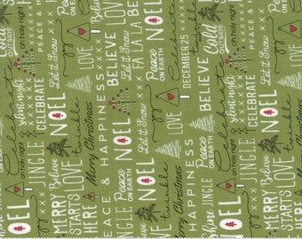 Merry Starts Here - Noel - Green - Sweetwater - Moda Fabrics - Christmas Fabric - (5730 12) - Sweetwater Merry Starts Here
