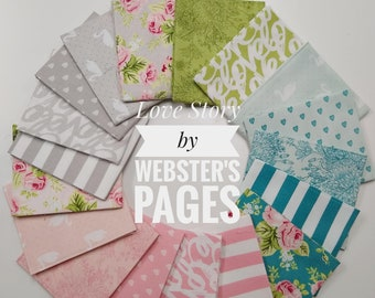 Love Story by Webster's Pages Fat Quarter Bundle (FQ-7070-18)
