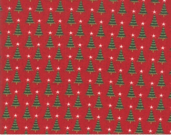 Kringle Claus - Pine Valley - Berry - (30596 13) - BasicGrey Kringle Claus for Moda Fabrics