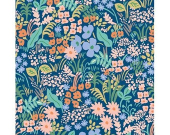 Meadow Blue Meadow by Rifle Paper Co. for Cotton and Steel Fabrics (RP204-BL2) - Cut Options Available!
