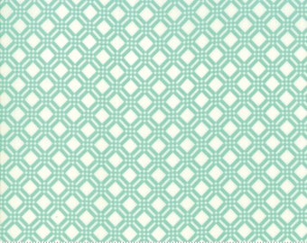 Early Bird Aqua Check by Bonnie & Camille for Moda Fabrics (55193 12) - Cut Options Available