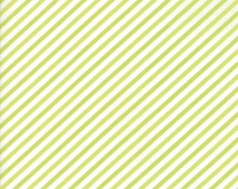 Vintage Holiday Green Bias Candy Stripe by  Bonnie & Camille SALE (55168 16)  Bonnie and Camille Vintage Holiday for Moda Fabrics