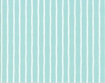 Lollipop Garden Handmade Stripe - Sky - Lollipop Garden by Lella Boutique - (5086 15) - Fat Quarter