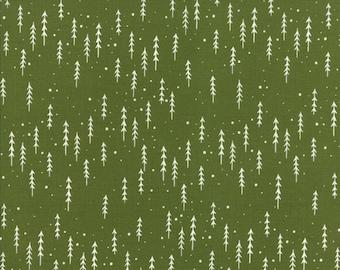 Gingiber Merriment Winter Trees - Holly (48274 13) for Moda Fabrics
