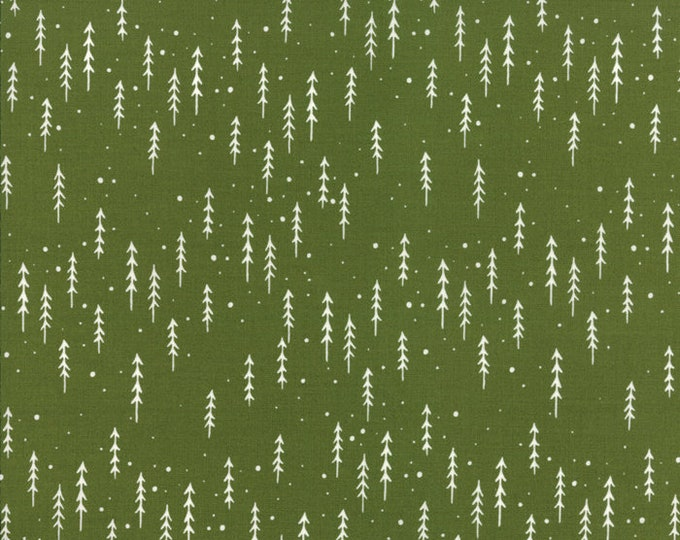 Gingiber Merriment Winter Trees - Holly (48274 13) for Moda Fabrics