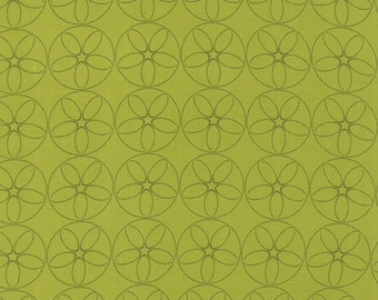 Reel Time, Film Reels in Chartreuse (1566 18) by Zen Chic - cut options available