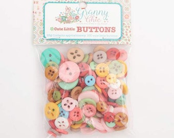 Granny Chic Cute Little Buttons by Lori Holt for Riley Blake Designs - 100 buttons to match Granny Chic Fabrics