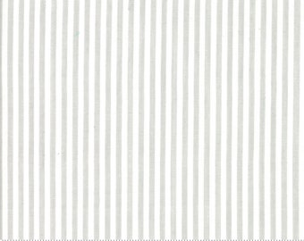 Bonnie and Camille Wovens Gray Stripe for Moda Fabrics  (12405 26) - Gray Stripe Fabric - Woven Fabric
