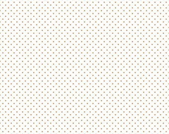 Orange Swiss Dots on White by Riley Blake Designs (C660 60) - Swiss Dot Fabric - Cut Options Available