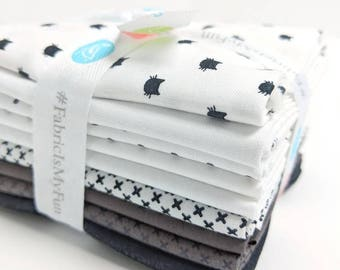 Black & White FQ Bundle - 8 Fat Quarters