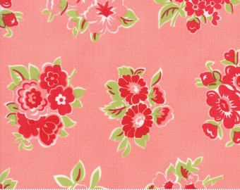 Little Snippets Coral Marmalade Floral by Bonnie & Camille for Moda Fabrics (55188 13)