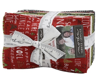 Merry Starts Here By Sweetwater - Fat Eighth Bundle - Sweetwater Merry Starts Here for Moda Fabrics - Christmas Fabric