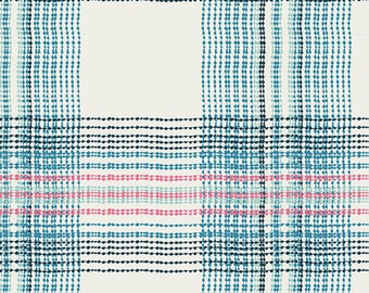 Dare Wafting Plaid Traced by Pat Bravo from Art Gallery Fabrics (DAR-54301) Plaid Fabric - Cut options available!