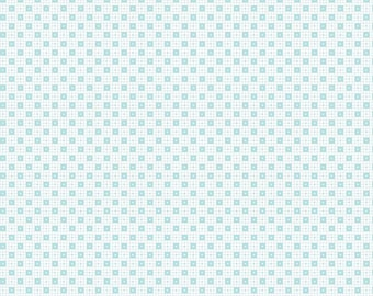Simple Goodness Aqua Checker Dots by Tasha Noel  (C7932-AQUA)