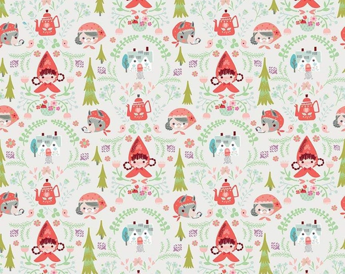 Little Red In The Woods Damask Cream (C8081-CREAM) by Jill Howarth