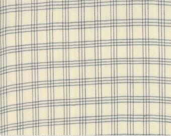 Northport Silky Wovens Ivory Blue Plaid by Minick & Simpson for Moda Fabrics  (12215 20) - Patriotic Fabric - Plaid Fabric
