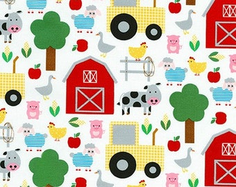 Bright On The Farm by Ann Kelle from State to State by Robert Kaufman - Novelty Fabric (AAK-19304-195 BRIGHT)