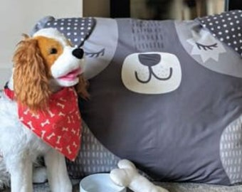Doggie Bed Toy and Scarf Cut, Sew, Create Panel by Stacy Iest Hsu - Perfect Sewing Projects for Beginners and Children!