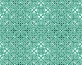 Granny Chic Teal Stitches by Lori Holt (Bee in My Bonnet) (C8524 TEAL) - Riley Blake Designs - Lori Holt Granny Chic