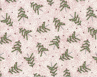 Merry Starts Here - Tree Farm - Cream and Red - Sweetwater - Moda Fabrics - Christmas Fabric - (5731 14) - Sweetwater Merry Starts Here