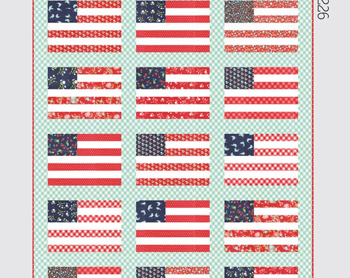 Stars and Stripes Quilt Pattern by Thimble Blossoms for Moda Fabrics (TB-226) - Fat Quarter friendly!